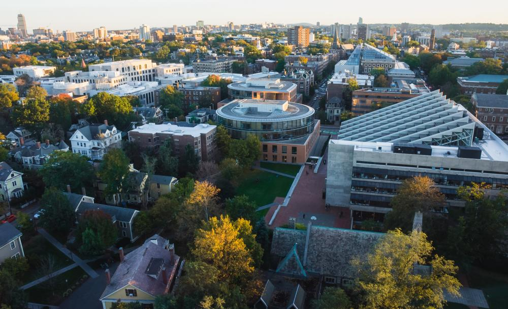 Birds eye view of campus