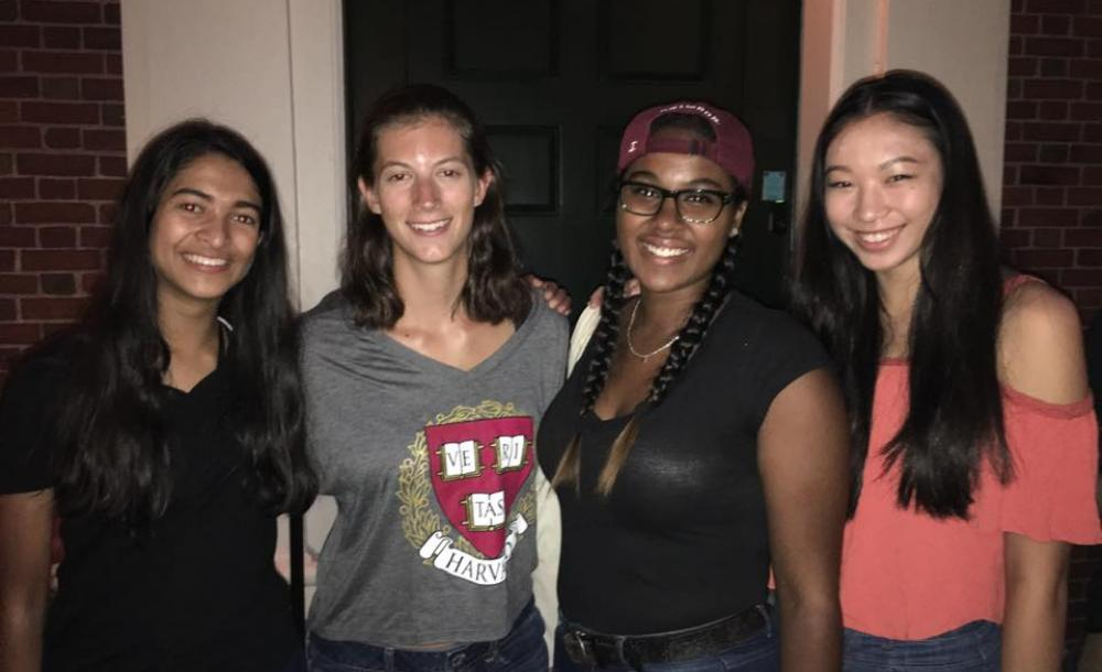 four Harvard first-year students