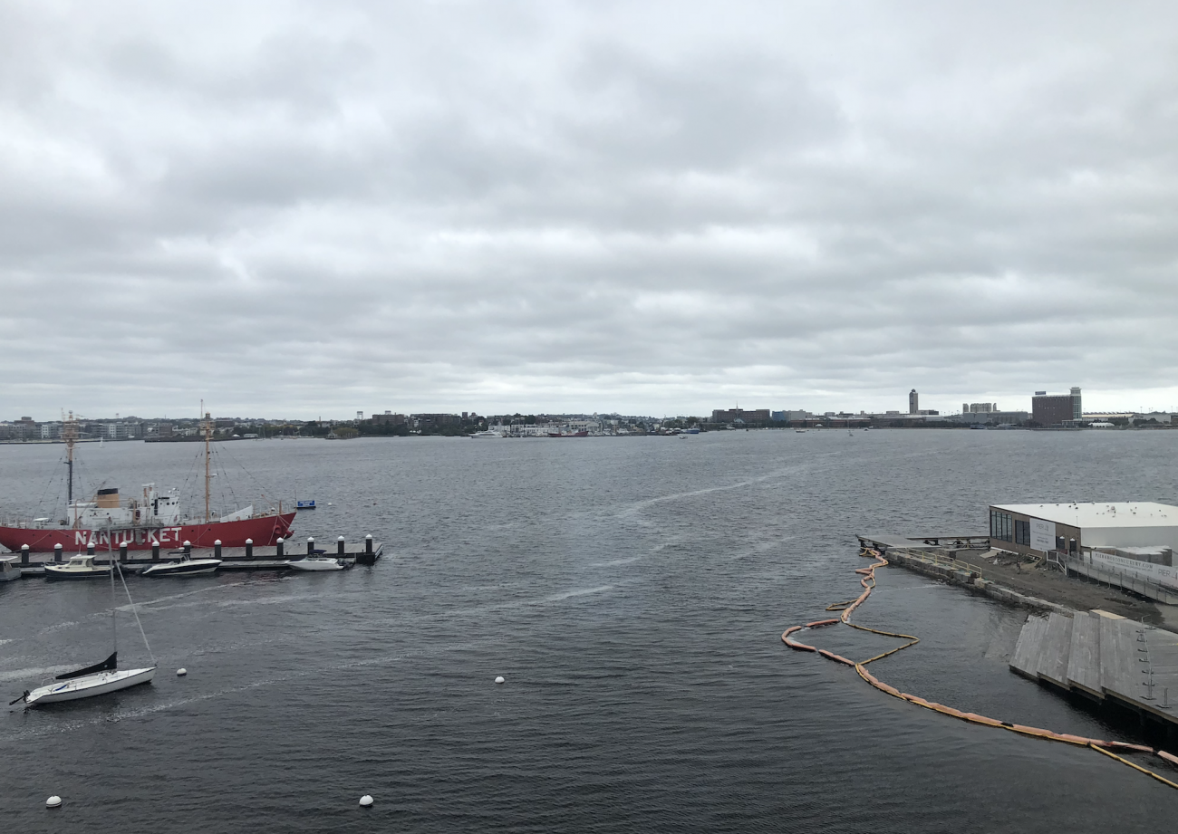 views of the water in Boston