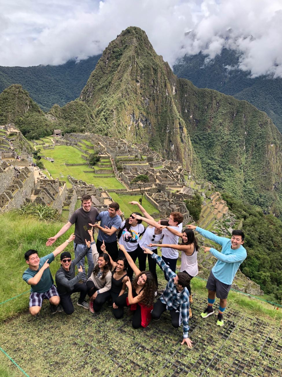 Harvard Model United Nations Latin America team at Machu Picchu.