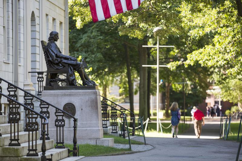 John Harvard Statue in Harvard Yard