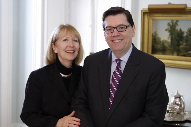 Mark Gearan and Mary Herlihy-Gearan, Interim Winthrop Faculty Deans