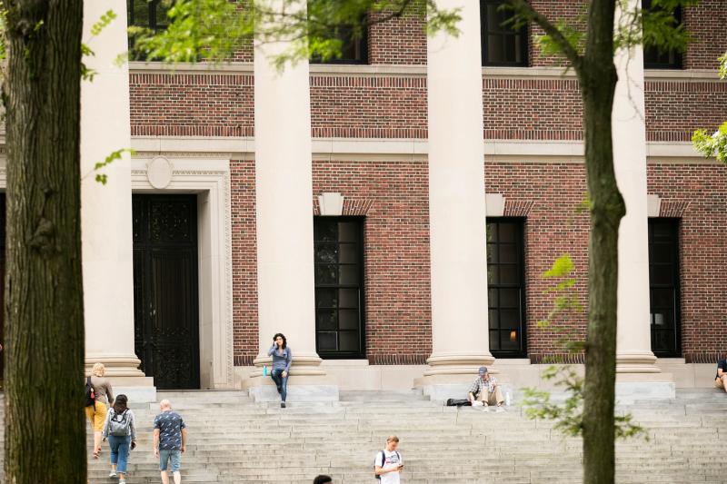 harvard yard widener library