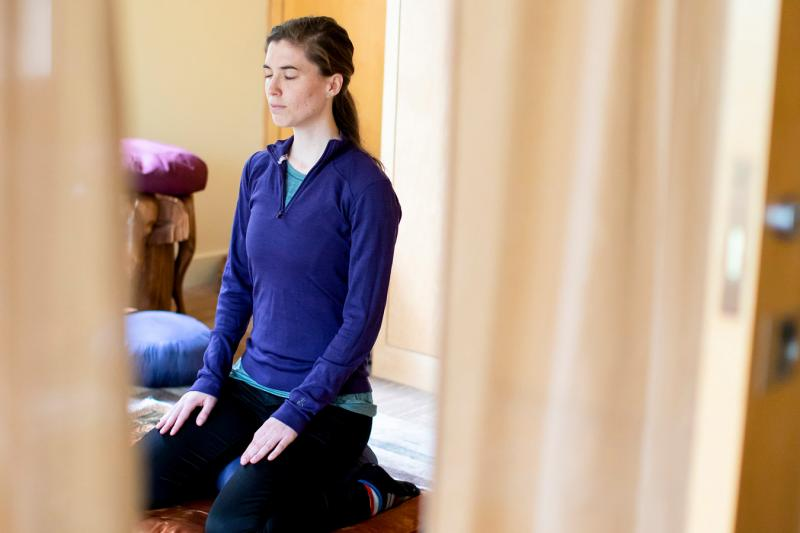 Mindful meditation is one of the spiritual practices people can use to remain grounded during times of turmoil.
