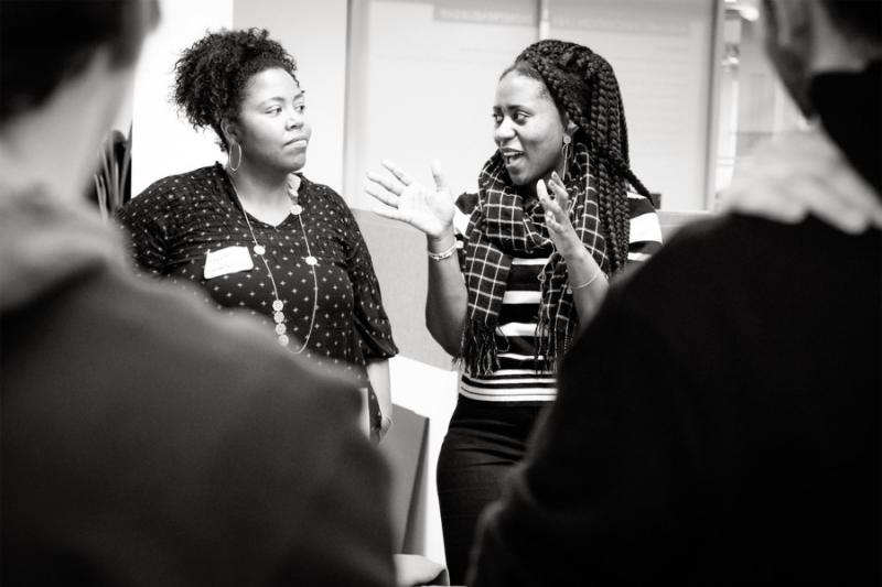 The Spring Venture Orientation had team members meet and share their project's mission. Change the Tune: The Studio founder Charli Kemp spoke with April Finlayson.