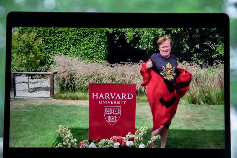 Conan O'Brien gives his speech to the graduating Harvard College Class of 2020.