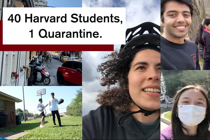 montage of students that are featured in the Qurantine video