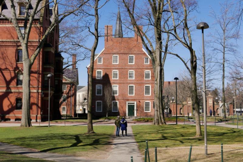 Massachusetts Hall in Harvard Yard.
