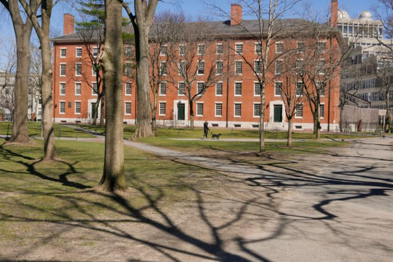 Harvard Yard following the departure of students in March.