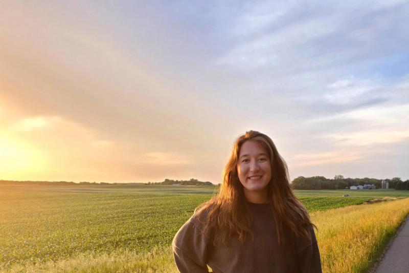 """In the """"Postcards From Here"""" series, Jaidyn Probst '23, who lives in rural Minnesota, is one of three students sharing how life has changed since returning home following the COVID crisis."""