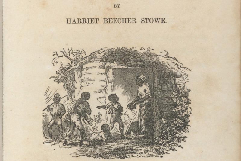 "The digitized title page from a first edition of ""Uncle Tom's Cabin"" by Harriet Beecher Stowe (1851)."