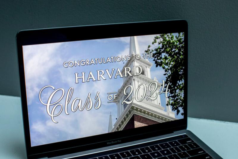 A screenshot of the Class of 2024 Convocation on a computer screen.