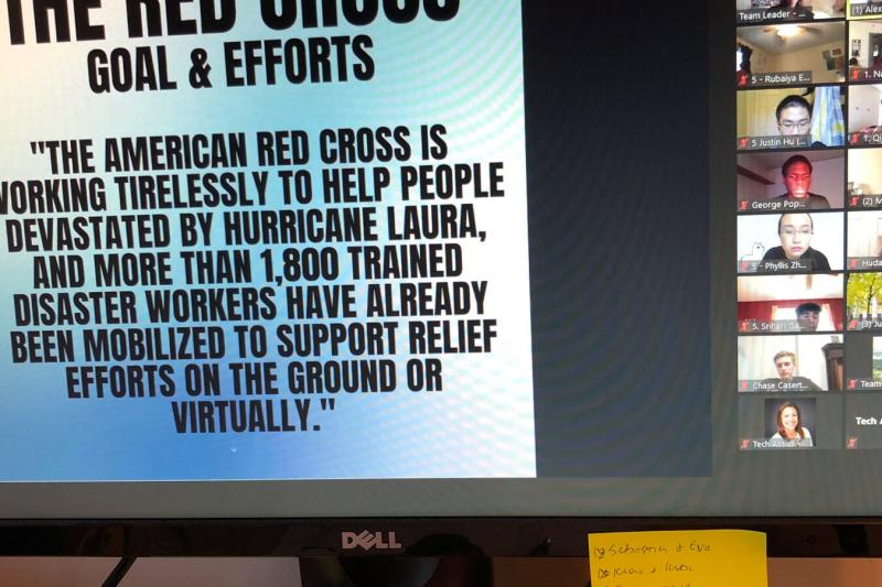 Volunteers worked with the Red Cross team to develop customized outreach materials for their most urgent volunteer areas. Their designs will be presented to the Red Cross outreach department and will be used in their campaigns.