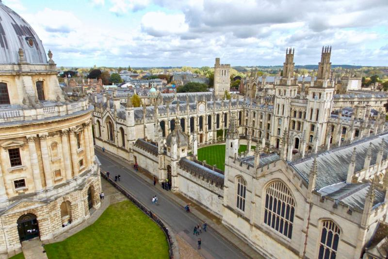 A shot of the University of Oxford campus.