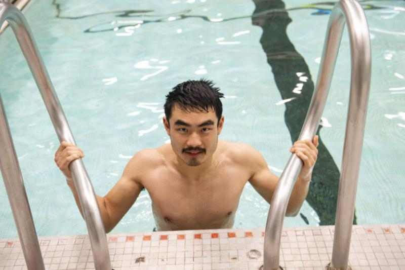 Michael Cheng joined the Varsity Crew team on a whim. But before he could hit the river, he had to teach himself how to swim.