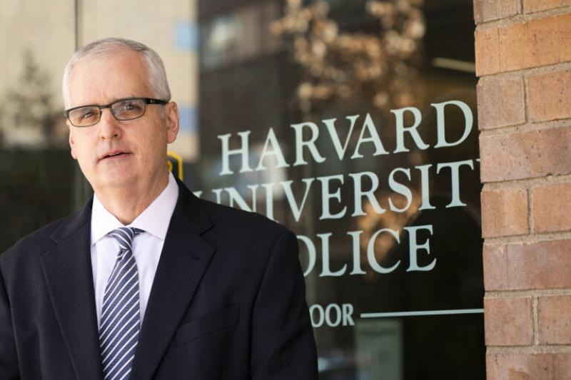 """I've been meeting with students, faculty, and staff from across the University to give them a sense of who I am and what I'm hoping to accomplish,"" said Denis Downing, the interim police chief for HUPD."