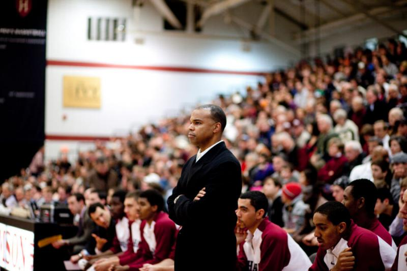 """When Tommy Amaker (pictured) arrived at Harvard in 2007, Law School Professor Charles J. Ogletree Jr. invited him to breakfast. From there, """"The Breakfast Club"""" was born."""