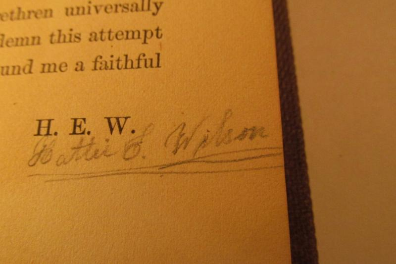 The book's author is believed to have signed this copy, which was published in 1859.