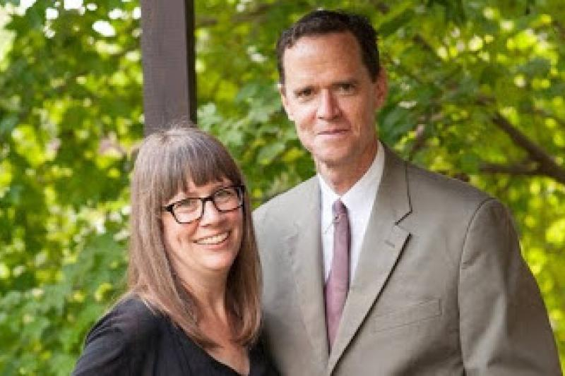 A portrait of Stephanie Paulsell and Kevin Madigan, faculty deans of Eliot House.