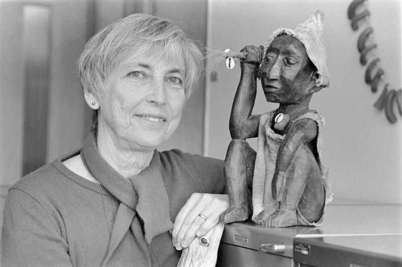 A portrait of Sally Falk Moore.
