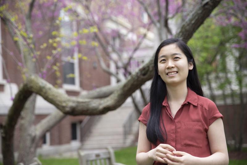 Truelian looking at the camera at Harvard