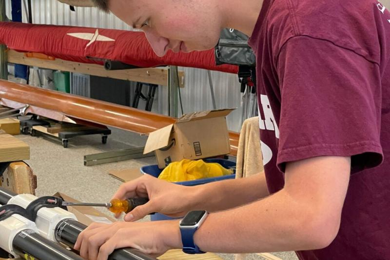 Daniel Villani spent his summer working at Rochester Community Inclusive Rowing along the Genesee River.