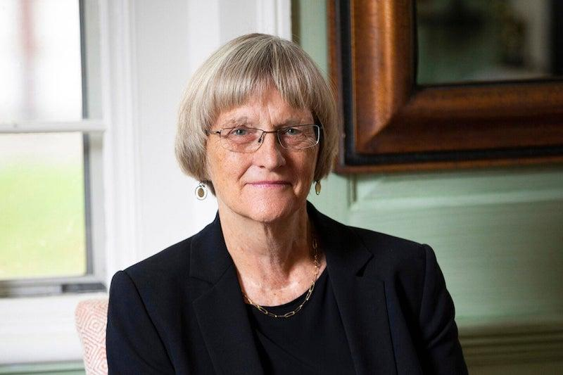 """Drew Faust, the Arthur Kingsley Porter University Professor, combined her love of history and language to create the undergraduate seminar """"American Speeches: The Power of Words."""""""