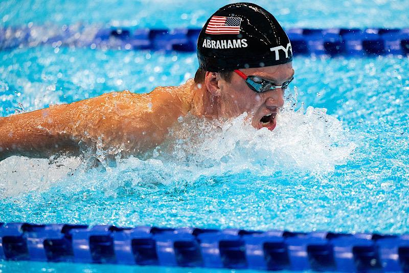 David Abrahams competes for Team USA at the Tokyo Paralympic Games.