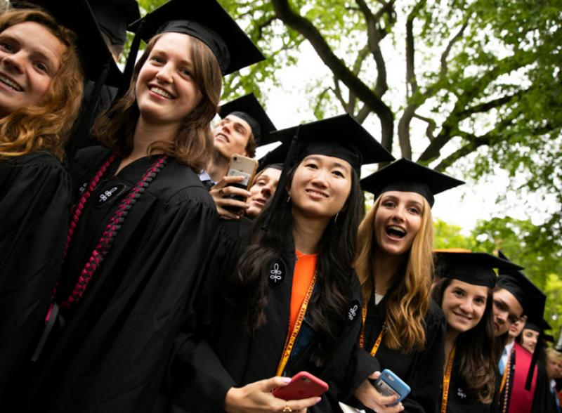 a group of graduates at commencement
