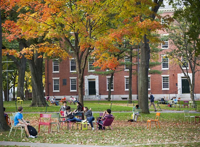 Harvard Yard in the Fall