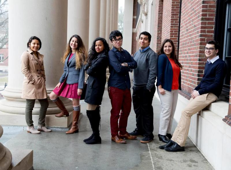 Students from Act on a Dream - Undocumented at Harvard group