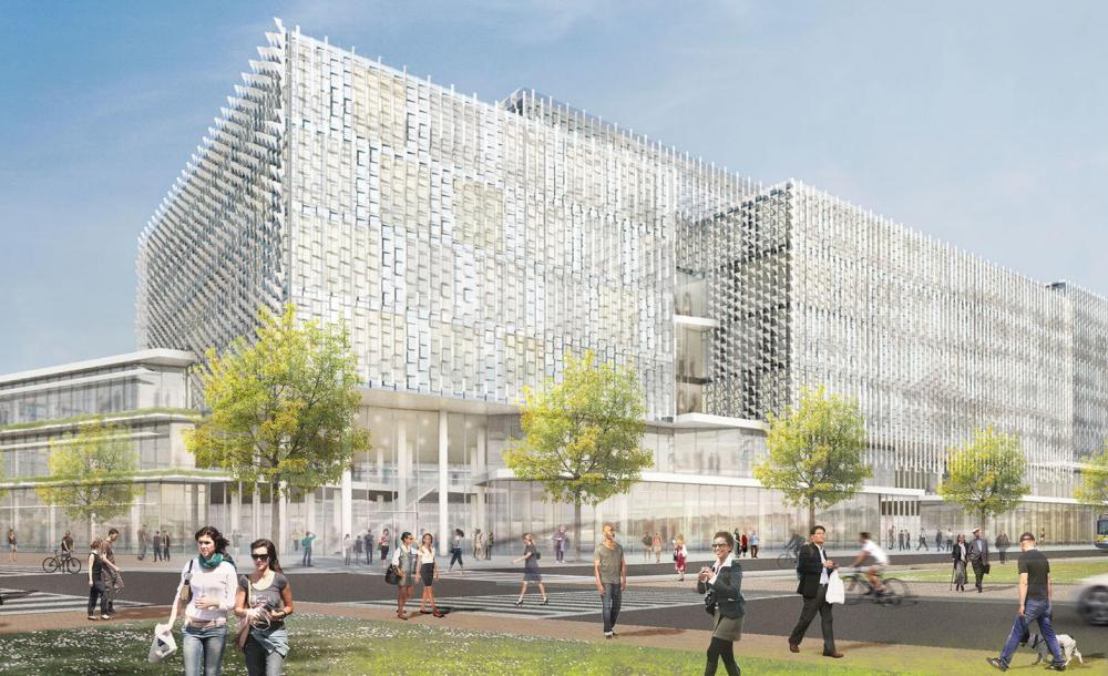 Rendering of the new Science and Engineering Complex in Allston, MA