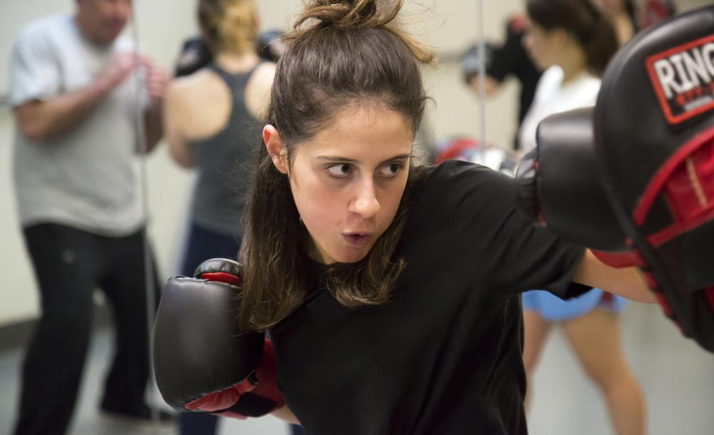 Image of student during  Boxing Club practice