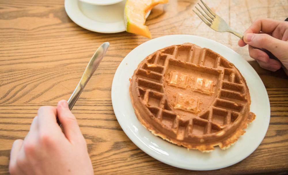 Waffle with Harvard Shield