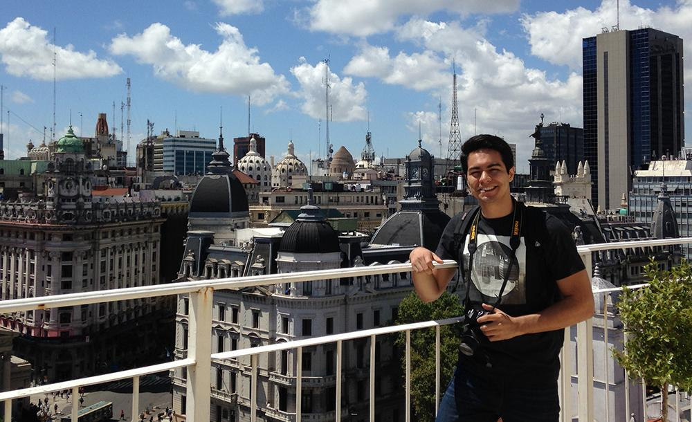 student in Argentina while studying abroad