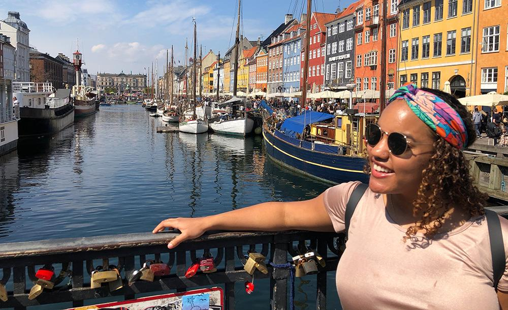 student in denmark while studying abroad