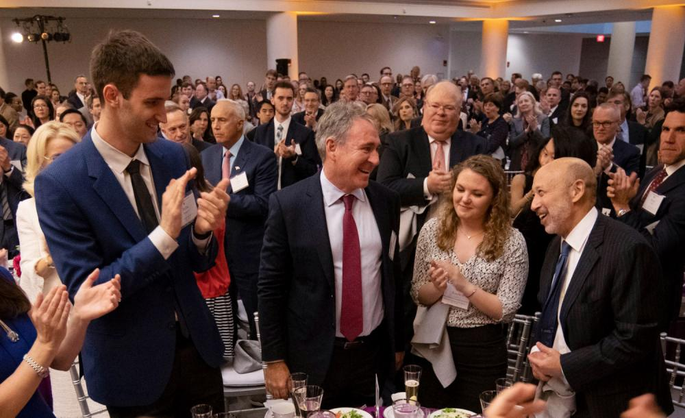 Ken Griffin is applauded at the annual Celebration of Scholarships dinner