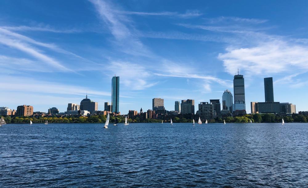 Boston skyline over Charles River