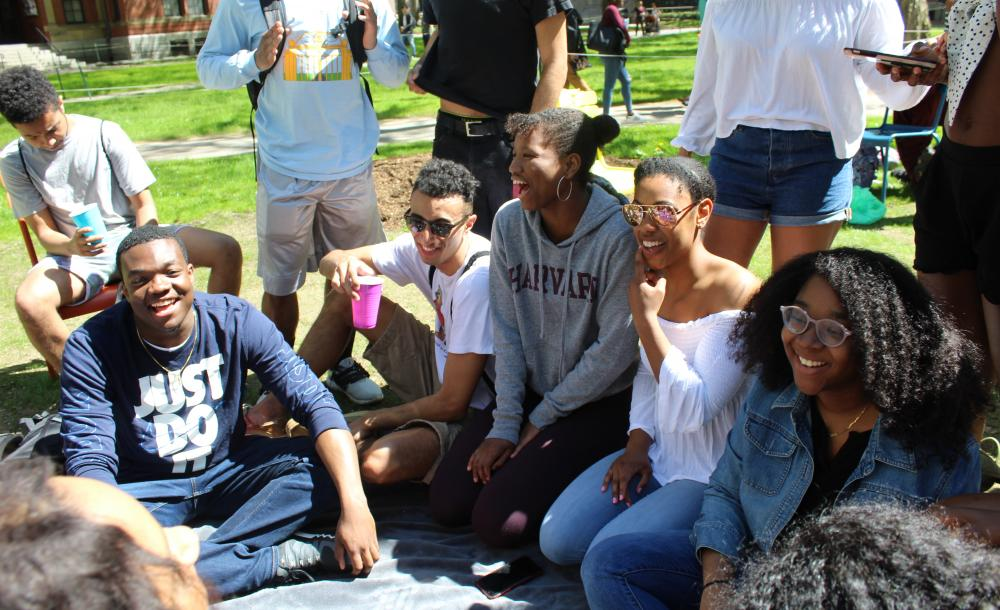 Here are members of the Class of 2022 enjoying a picnic outdoors.