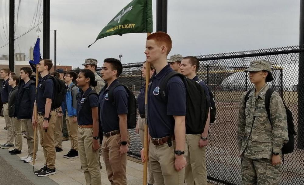Cadets at Drill in Action