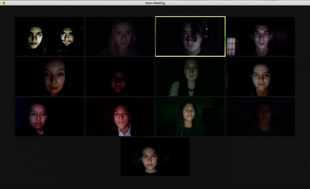 A full cast photo of our virtual Macbeth production