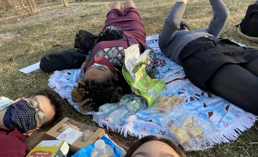 Friends and I at a picnic at the arboretum
