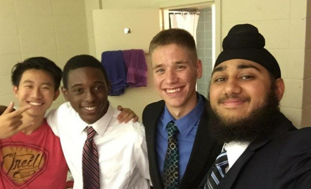 Here's Harpreet and I with our best friends back in high school!