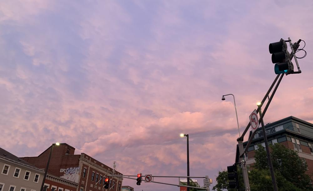 this is a picture of the early evening sky in Central.