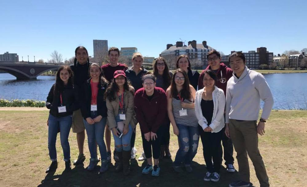 students attending an event at Harvard's admitted student's weekend