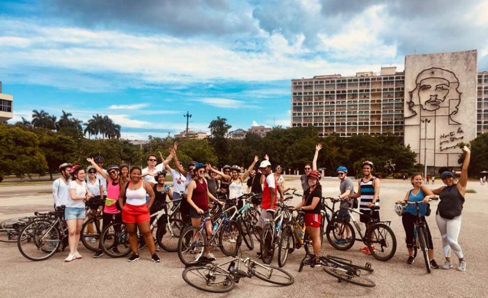 My study abroad group and I after a a bike tour of Havana.