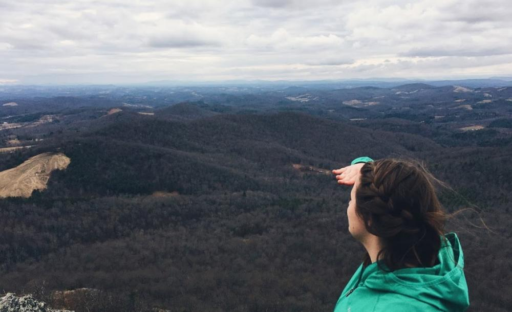 Photo: Me looking into distnace over mountains