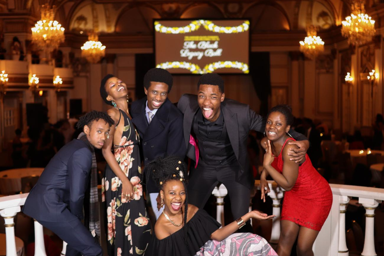 Six students at Harvard's Black Student's Association Ball