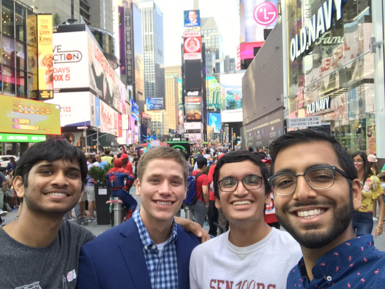 Group of Students in Times Square