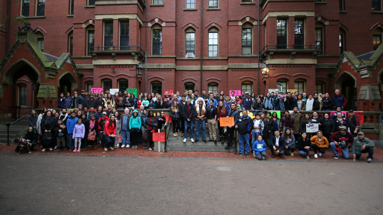 a large group of students